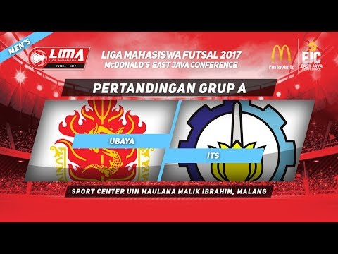 UBAYA vs ITS di LIMA Futsal McDonald's East Java Conference 2017 (Men's)