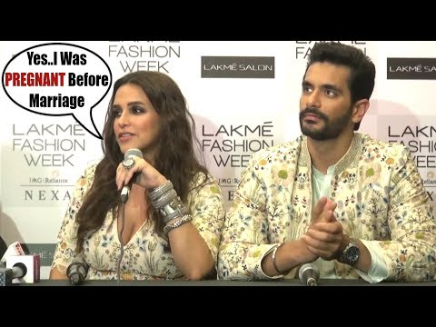 PREGNANT Neha Dhupia Finally CONFESS Her PREGNANCY Before Marriage At Lakme Fashion Week 2018