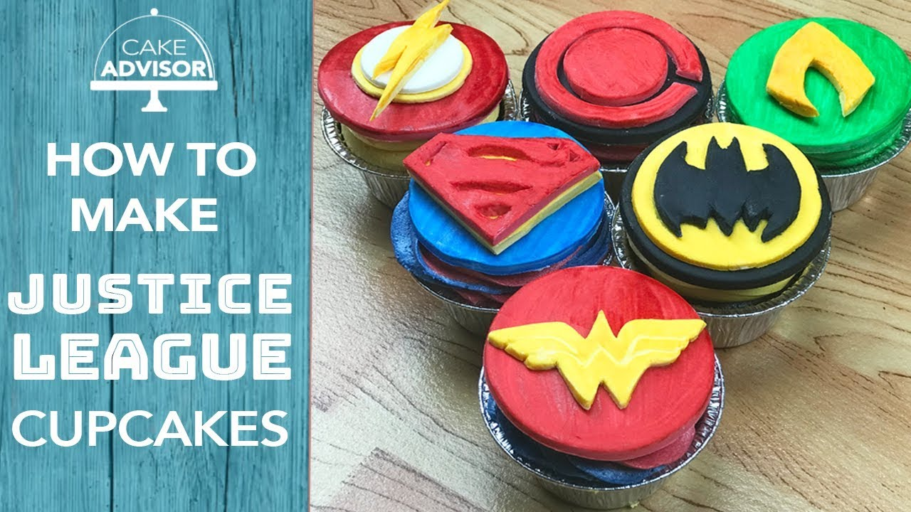 How To Make Cupcakes Justice League Cake Cupcake Toppers Full Tutorial
