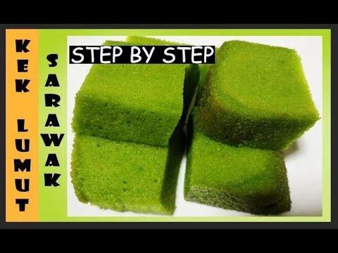 Kek Lumut Sarawak Moist Kek Lumut Mudah Step By Step Mesti Cuba