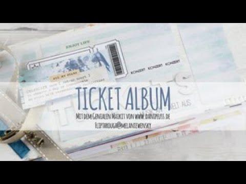 Ticket Mini-Album mit dem Mai-Kit von DaniPeuss