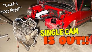 HOW TO remove a HOΝDA CRX ENGINE