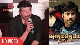 Sunny Deol Reaction On Bhaiyyaji Superhitt Movie Release Date | Poster Boys