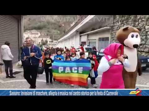 Sassano: invasione di maschere e allegria per la festa di Carnevale