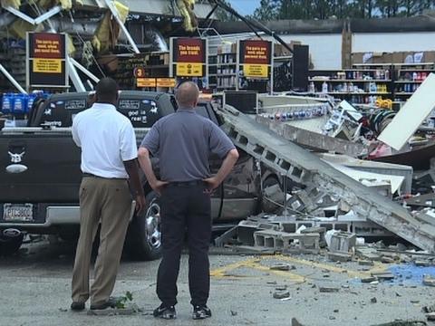 Possible Tornado Damage in South Georgia
