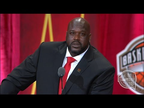 Shaquille ONeals Basketball Hall of Fame Enshrinement Speech