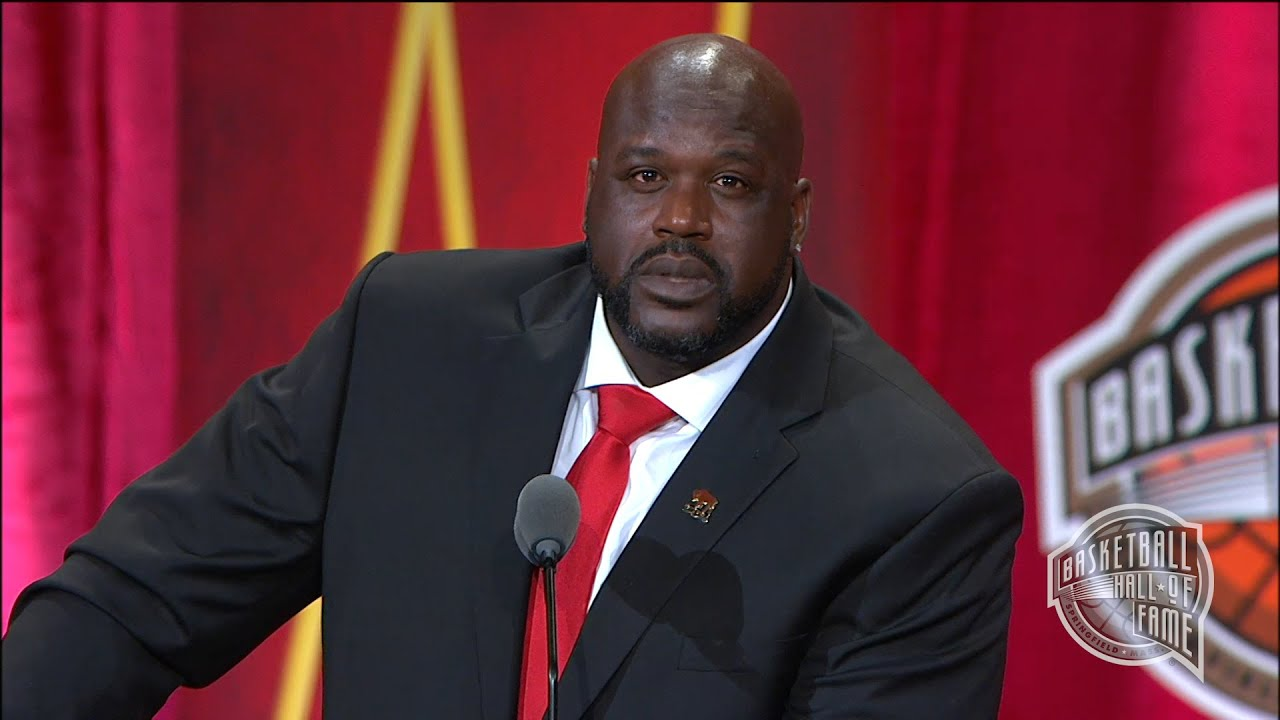 shaquille o neal s basketball hall of fame enshrinement. Black Bedroom Furniture Sets. Home Design Ideas