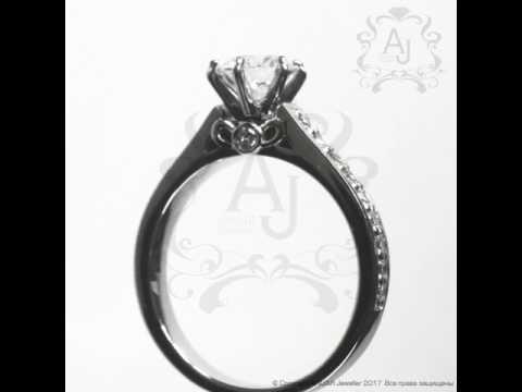 Помолвочное кольцо с бриллиантами 1,06ct I ANUAR Jeweller