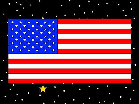 Patriotic Star Filled Night Sky - Patriotic American Flag Animation 🦅