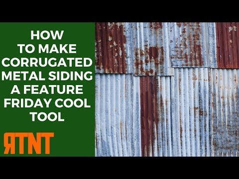 How to Make Corrugated Metal Siding from Aluminum Foil