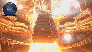 NASA SLS RS-25 engine test fire with FIXED AUDIO (4-4-2019)