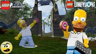 Homer Simpson no universo do Lego Jurassic World (Lego Dimensions) Caraca Games