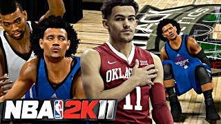 NBA 2K11 MyPLAYER TRAE YOUNG #4 - CLUTCH SHOT IN THE LAST DRAFT COMBINE GAME! TIME FOR THE DRAFT!