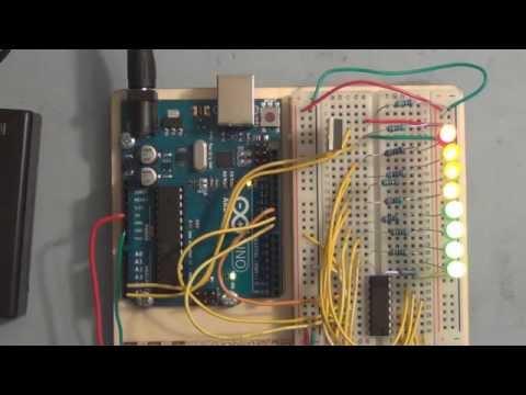 Arduino Temperature Sensor LED Bar Graph