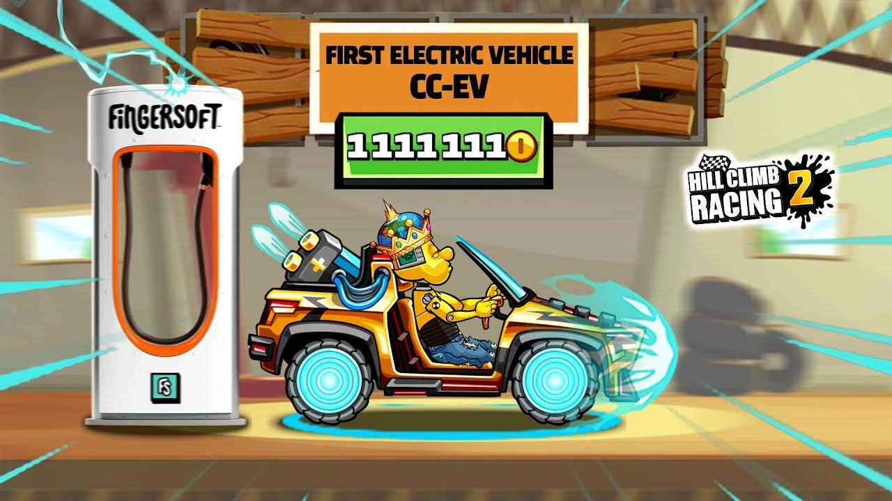 HILL CLIMB RACING 2 - NEW VEHICLE CC-EV GAMEPLAY - 1.47.0 BIGGEST UPDATE
