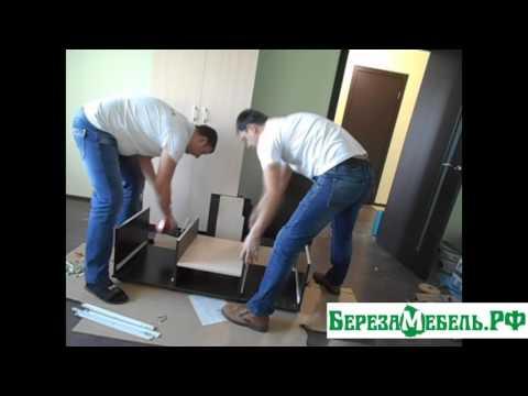 Сборка тумбы под ТВ из комплекта горки  ГР-01-В