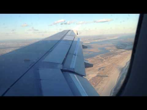 JetBlue a320 landing at John F. Kennedy airport