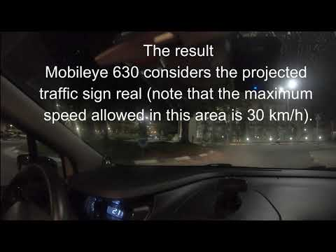 Autonomous vehicles fooled by drones that project too-quick-for-humans road-signs