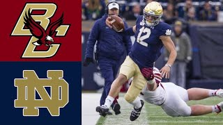 Boston College vs #16 Notre Dame Highlights | NCAAF Week 13 | College Football Highlights
