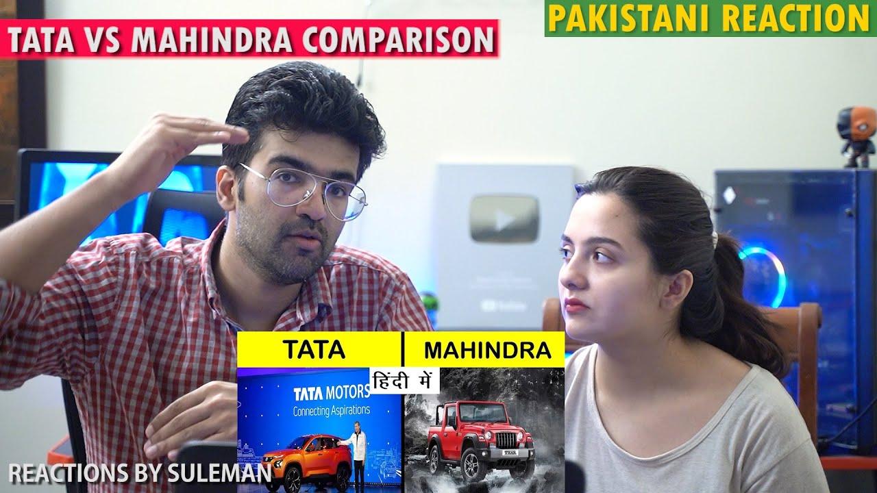 Pakistani Couple Reacts To Tata vs Mahindra Company Comparison in Hindi
