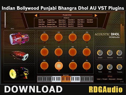 Acoustic Dhol RDGAudio AU VST Plugins Download Bollywood Punjabi Indian Dhol VST