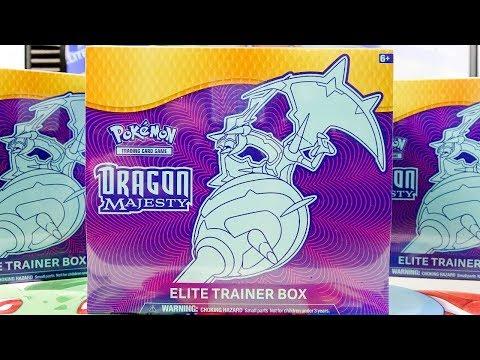 Opening 3x Pokemon Dragon Majesty Elite Trainer Boxes