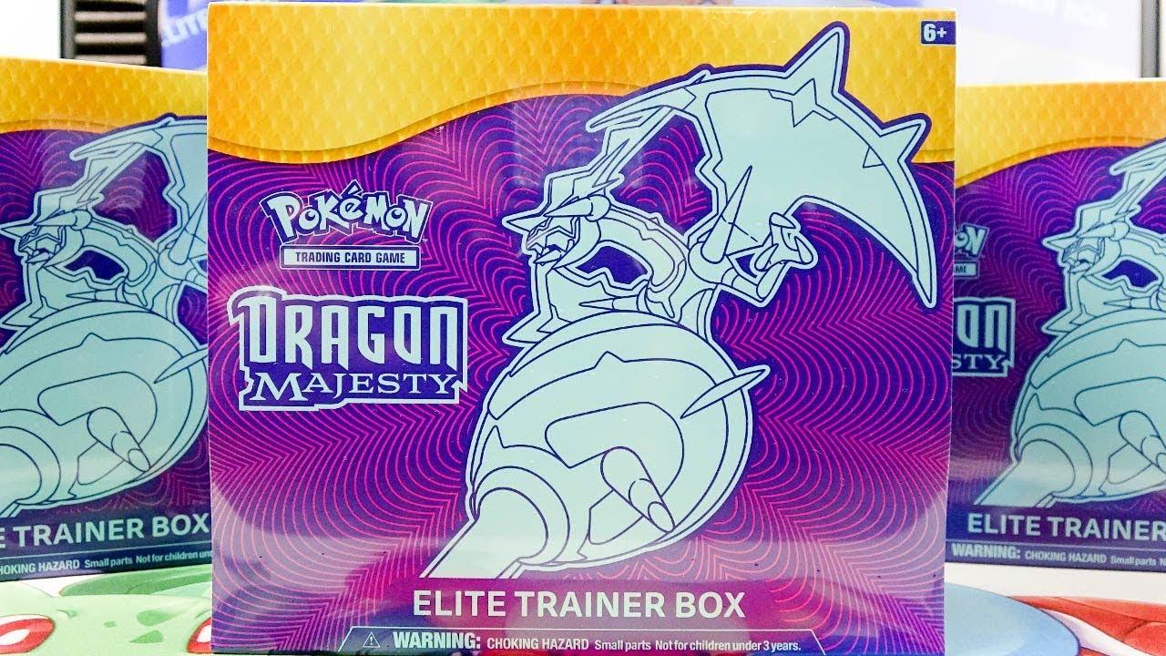 opening 3x pokemon dragon majesty elite trainer boxes youtube