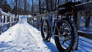 Winter Snow Biking at Erie Canal, Upstate NY 2016