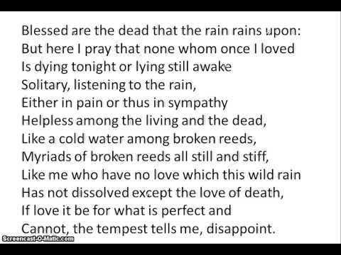 rain by edward thomas essay
