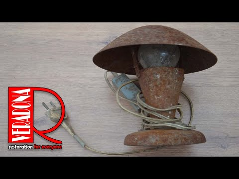Old Rusty Table Lamp Restoration
