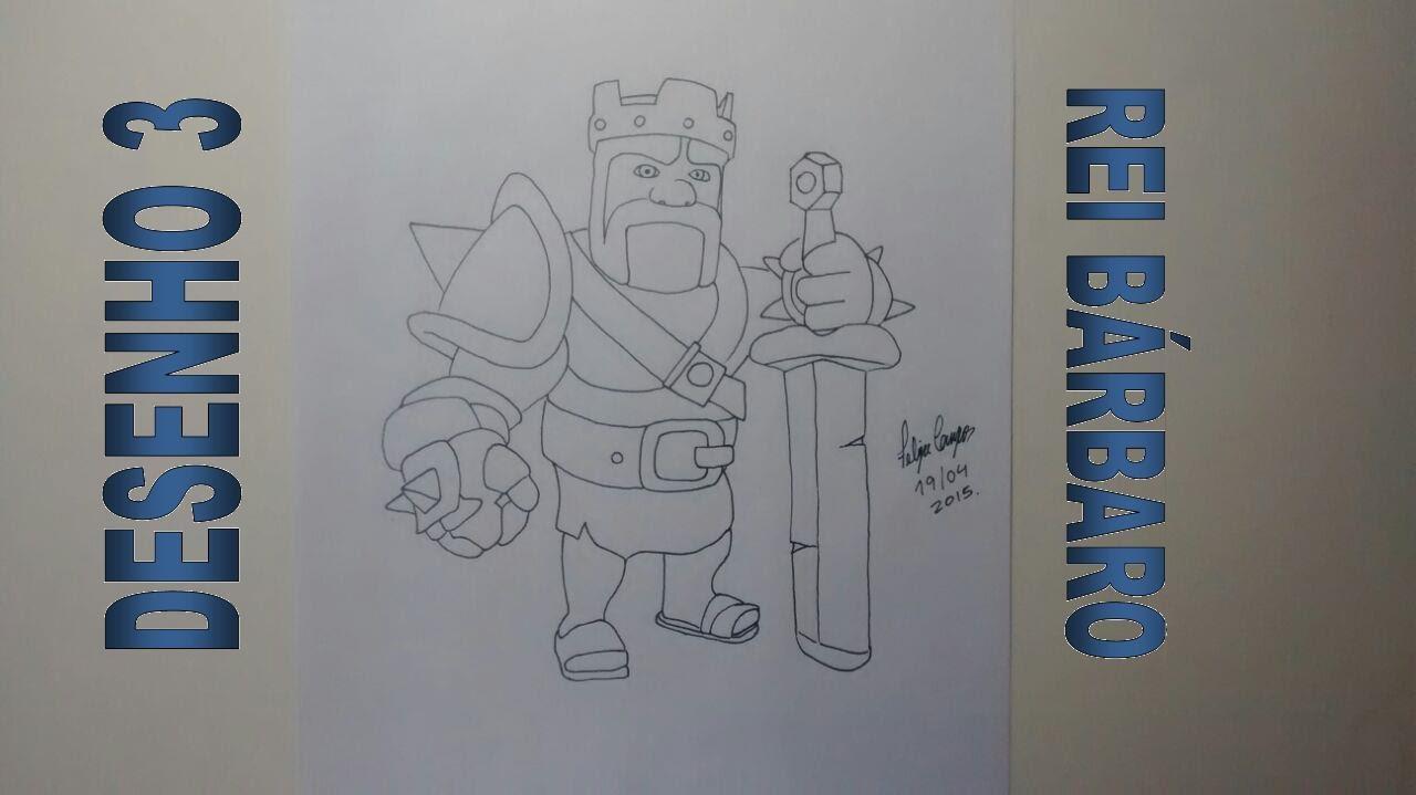 clash of clans rei bárbaro youtube