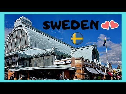 SWEDEN, the beautiful MARKET HALL (SALUHALLEN) in GOTHENBURG