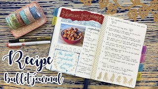RECIPE BULLET JOURNAL - HOW TO SET UP ↬ WITH FLIP THROUGH