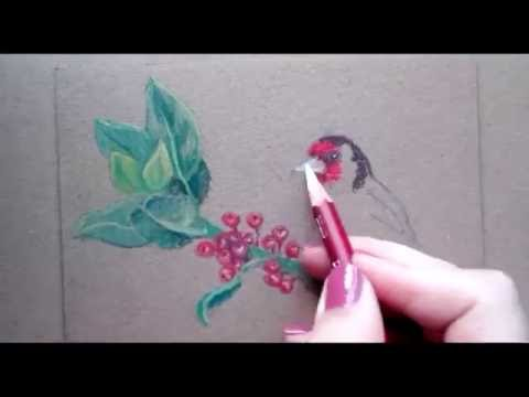 drawing a bird with pastel pencils youtube youtube