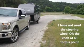 Demonstration of the Ford F 150 Pro Trailer Backup Assist