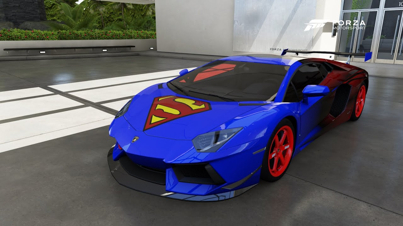 Watch Motorsport Video >> Forza Motorsport 6 FORZAVISTA CAR SHOW, SUPERMAN LAMBO - YouTube