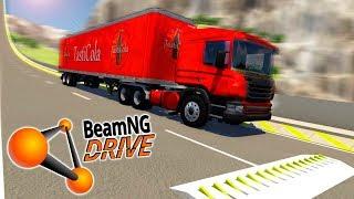 ПОЛИЦЕЙСКИЕ ШИПЫ ПРОТИВ МАШИН В BEAMNG DRIVE! (BeamNG.drive АВАРИИ)
