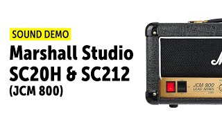 Marshall - SC20H - SC212 (Studio Series) Sound Demo (no talking)