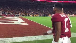 Injured Tua Tagovailoa heads to the locker room during Alabama-Tennessee game