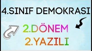 4.SINIF DEMOKRASİ 2.DÖNEM 2.YAZILI SORULARI VE CEVAPLARI (İZLEYEN 100 ALIR)😊😊