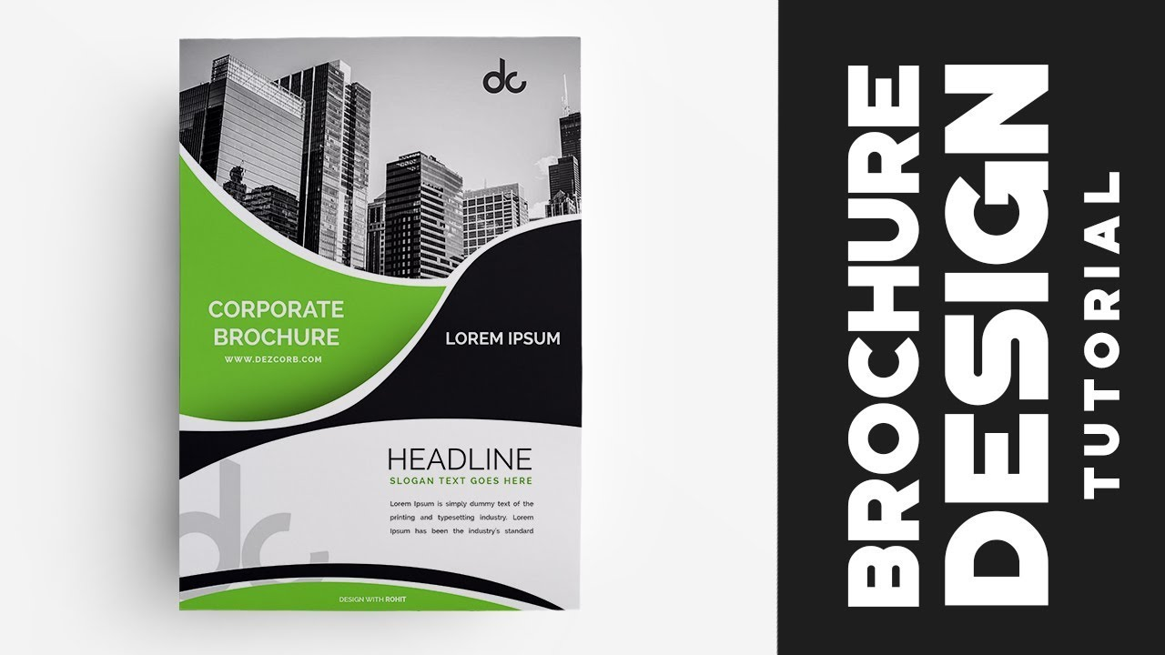 how to design brochure in photoshop cs6 green professional corporate