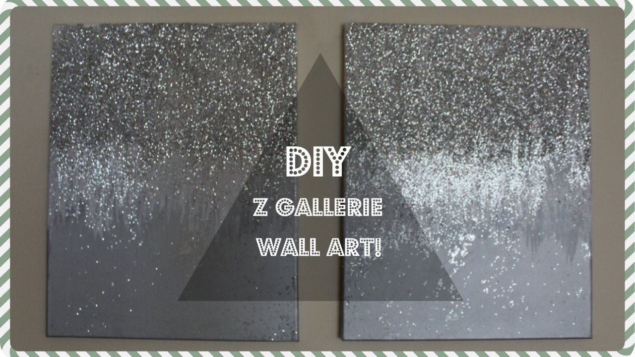 Z GALLERIE WALL DECOR DUPE! - YouTube