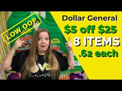 DOLLAR GENERAL ALL DIGITAL SCENARIOS 9-19 / LOW OOP / DIAPERS, TOILET PAPER, GAIN / $5 OFF $25