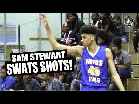 6'8 Sam Stewart Is A RIM PROTECTOR Full Of Potential!! Official Mixtape