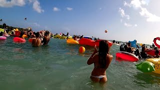 Floating in the Water at Waikiki Beach, Honolulu, Hawaii