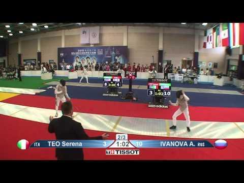 Shanghai 2015 WF GP T64 15 red Ivanova A RUS vs Teo S ITA
