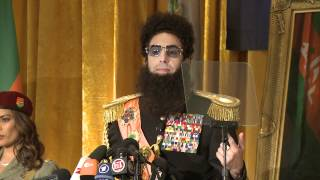 The Dictator talks more sex and Kim Kardashian being hairy and Ryan Seacrest