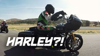 Harley Davidson on a RACE TRACK? (Track Day Cinematic)