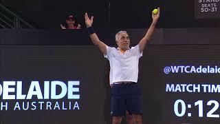 Match Highlights - Team Aus v Team Int Legends Doubles Day One | World Tennis Challenge 2018