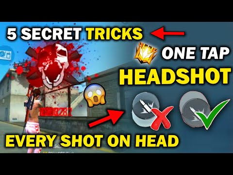 One Tap Headshot Top 5 Secret Trick + Setting || 100% Headshot Trick || Become One Tap Headshot King
